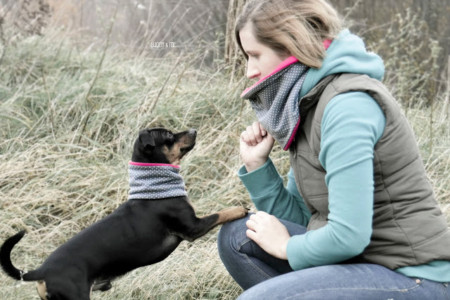 Buddy and Me, Pinscher Buddy, Winter, 2015, Loop, handmade, Hundeaccessoire, Partnerlook