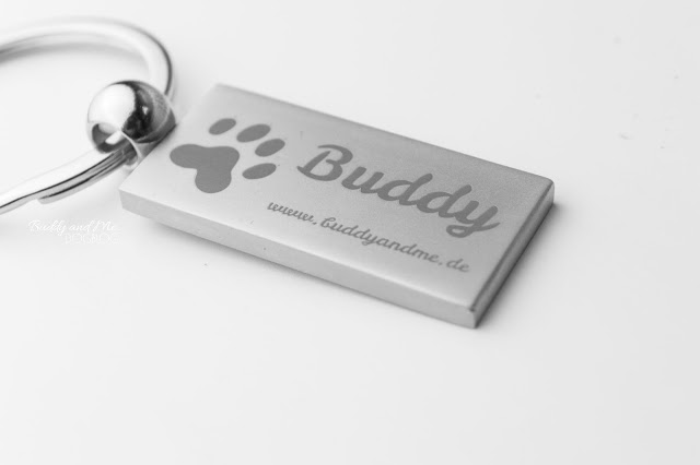 Personello, persönliche Geschenke, graviert, Hundemarke, Halsbandanhänger, Edelstahl, Anhänger, Hundename, Pinscher Buddy