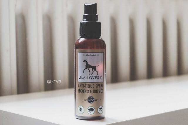 Lila Loves It Anti-Tique Spray | Buddy and Me | Hundeblog | Dogblog | Produkttest | Erfahrungen | natürlicher Zeckenschutz | Prophlaxe | Sommer | Zecken | Hunde | Abwehr | Lavendelöl | Kokosöl | Eukalyptus
