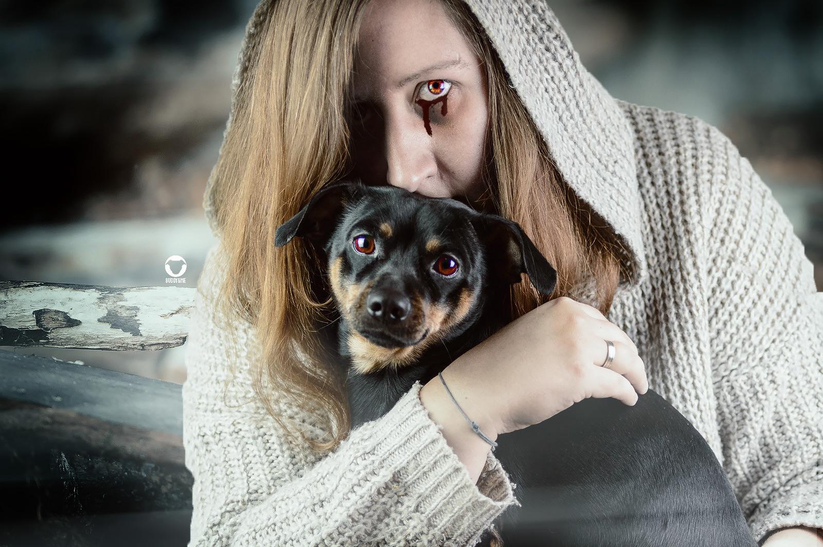 Pinscher Buddy, Buddy and Me, Hundeblog, Dogblog, Halloween, Kürbis, Bildbearbeitung, gruselig, Horror, spooky, Verkleidung, Nikon D3200