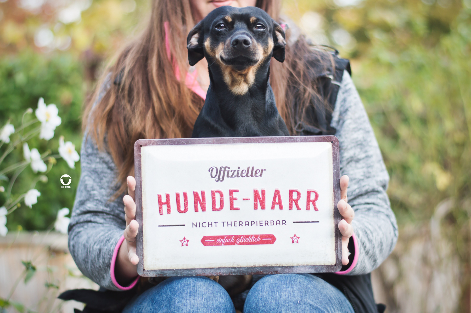 Pinscher Buddy, Buddy and Me, Hundeblog, Dogblog, Hund, Ruhrgebiet, Essen, Deko, Nostalgie, Nistalgic-Art, PfotenSchild, Blechschilder, Blechdosen, Futterdosen, Produkte, Hundenarr